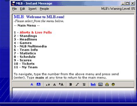 National Leauge Standings by Mlb Com Aol Instant Messenger Mlb Com