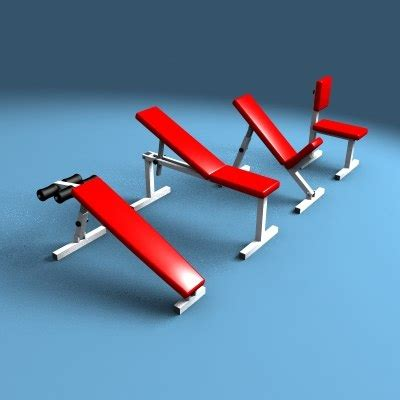 modells workout bench workout benches 3d model