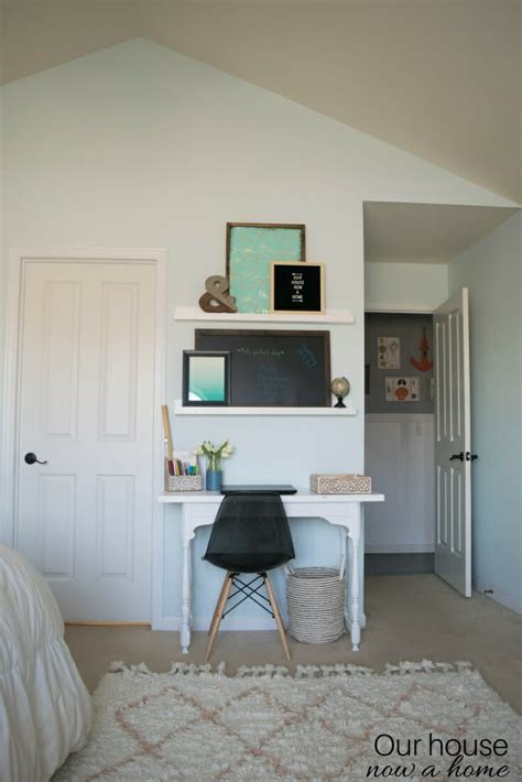 simple ideas for creating a how to turn a narrow table into a desk diy desk upcycle