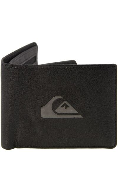 Quicksilver Leather 1 quiksilver mens miss dollar leather wallet in black with