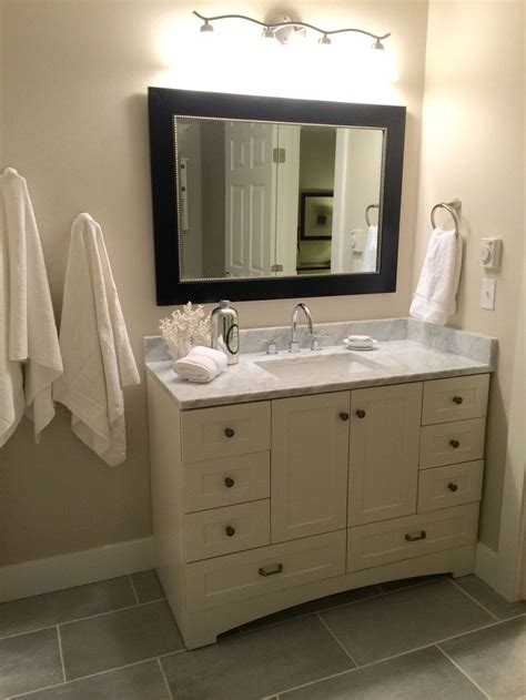 St Paul Bathroom Vanity Bathroom Update Remodel On A Budget Benjamin Edgecomb Gray Marble Home