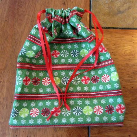 fabric paper bag pattern sew an easy drawstring gift bag brown thumb mama