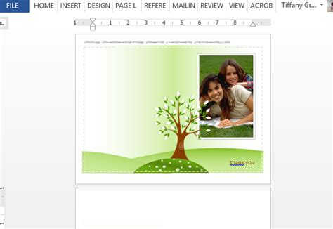 powers card template photo greeting card template for word