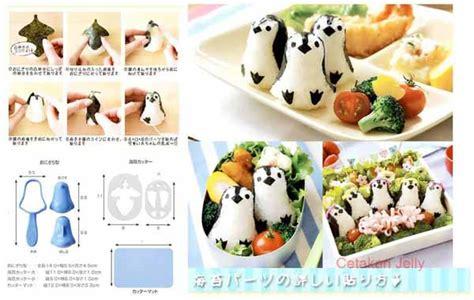 Cetakan Nasi Bento Pemotong Nori Mini Panda cetakan nasi bento baby penguin rice mold 3d with nori