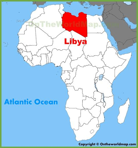libya map in world libya location on the africa map