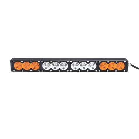 Multi Color 22inch 120w Amber Light Bar And White Car Led Multi Color Led Light Bar