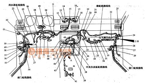 mitsubishi pajero light off road vehicle circuit instrument panel wiring harness configuration