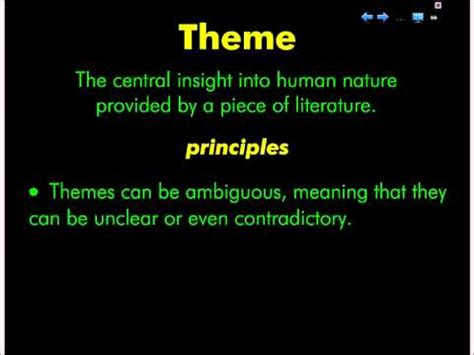 themes of english literature theme literary