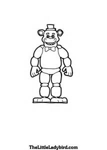 free nights freddys coloring pages thelittleladybird