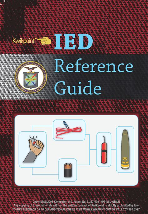 2011 complete guide to ieds improvised explosive devices enemy tactics roadside bombs counter ied targeting defeat the device programs technologies afghanistan iraq jieddo books ied reference guide kwikpoint kwikpoint visual
