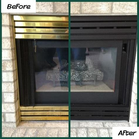 Spray Paint Fireplace by 1000 Ideas About Brass Fireplace Makeover On
