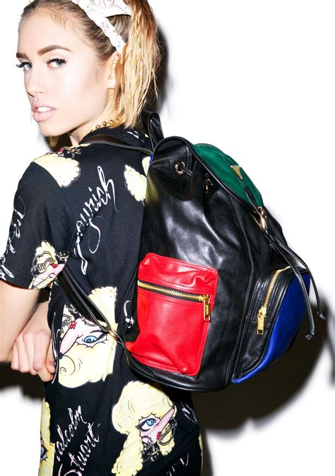 progressive color joyrich progressive color block mini backpack dolls kill