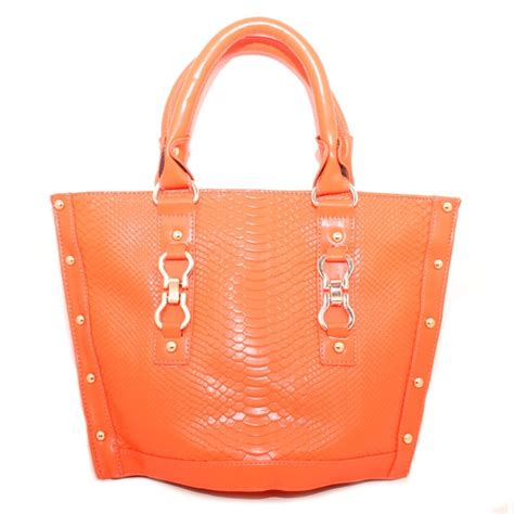 Orange Wedges By C Boutique orange trapezoid tote bag noveltylane heels and