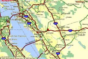 castro valley california map castro valley and bay area map
