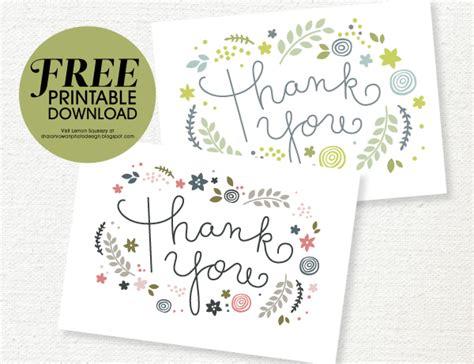 Free Printable Wedding Thank You Cards Templates