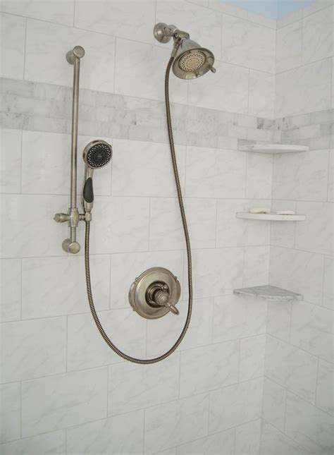 Walk In Shower Hardware Crisp Clean Updated Bathroom Curtsey Of Re Bath Of