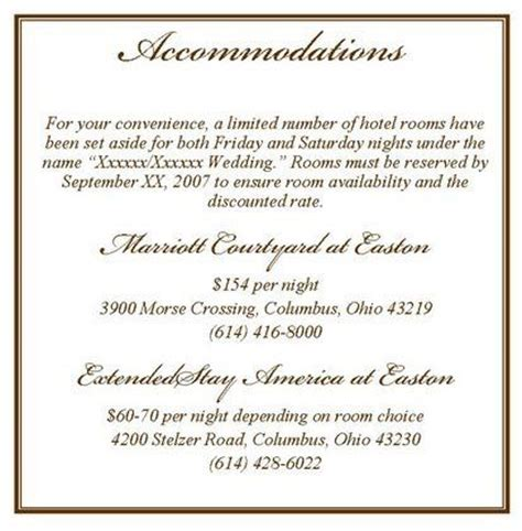 wedding hotel information card template 25 best ideas about accommodations card on wedding reply card etiquette my wedding