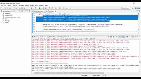 Spark Tutorial Java Youtube | tutorials apache spark streaming twitter java exle