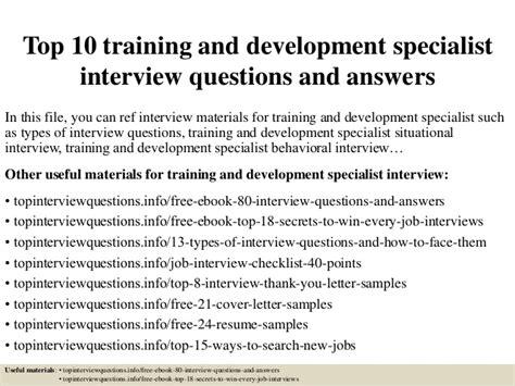 top  training  development specialist interview