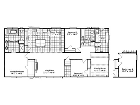 carrington floor plan the carrington ml30643c manufactured home floor plan or
