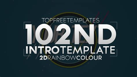 Free Intro Template 2d Rainbow Colours 102 W Tutorial Youtube Top Free Templates