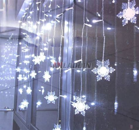 snowflake curtains snowflake curtains 104 led holiday lights anladdin com