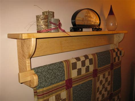 wall hanging quilt rack and shelf 2 by paul pomerleau
