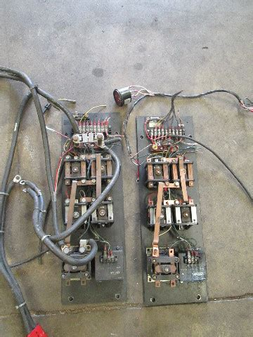 crown wtl walk   walkie stacker electrical contactor panels