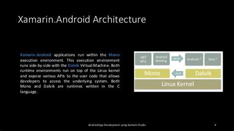 xamarin android android app development using xamarin studio
