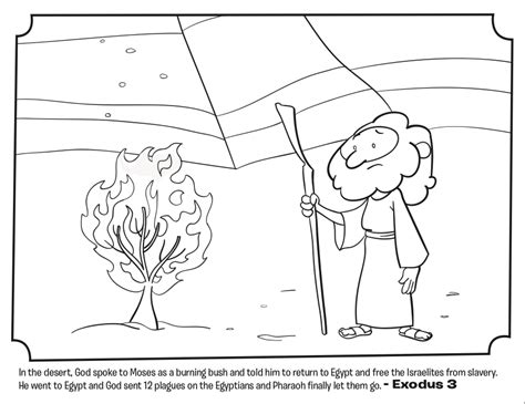 moses coloring pages for kids coloring home