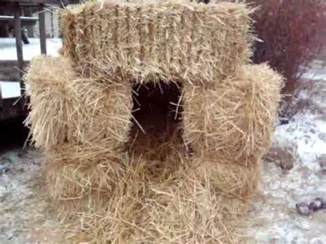 straw bale dog house a simple outside dog house under 15 00 youtube
