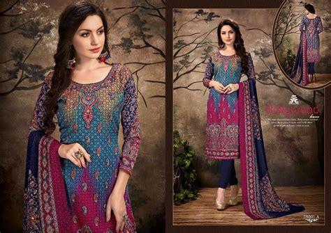Real Pict Dress Pasmina krishna creation 187 sargam prints kashmiri kali pashmina printed dress materials catalogue wholesale