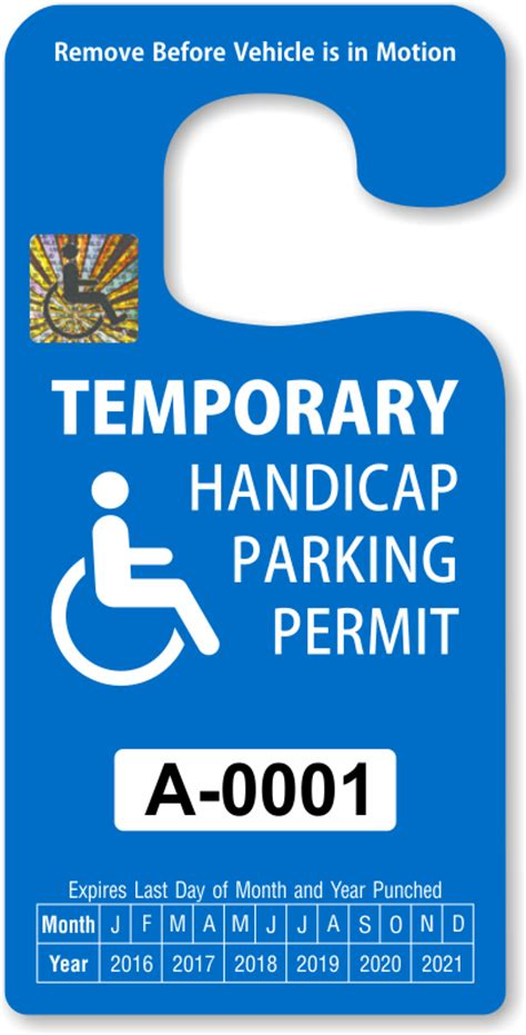 Handicap Parking Permits Parking Placard Template