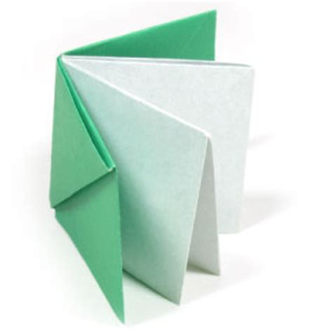 How To Do Book Origami - how to make an easy origami book page 1