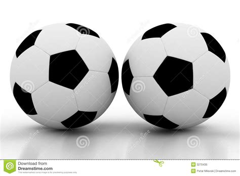 r ball 2 two soccer balls on white stock image image of nobody