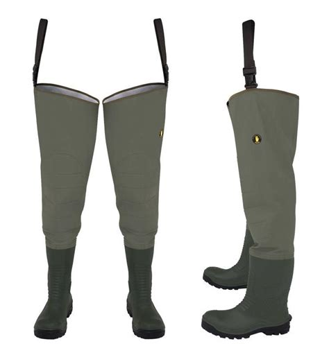 pvc safety boots waterproof thigh waders max 400p