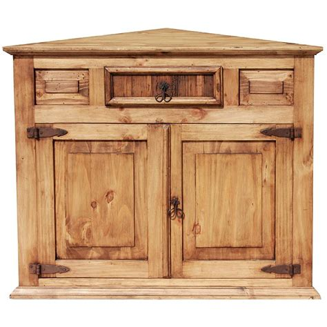 Corner Cabinate by Rustic Pine Collection Corner Cabinet Com10