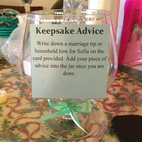keepsake advice cool idea for bridal showers or kitchen