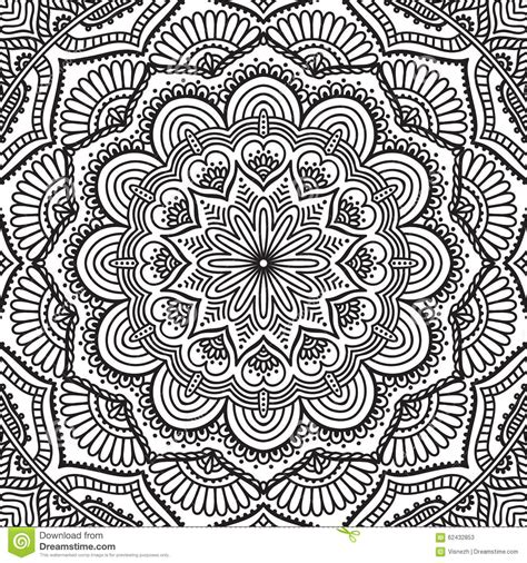 mandalas gorgeous coloring books with more than 120 illustrations to complete mandala coloring page stock vector image 62432853