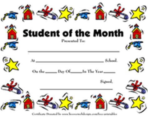free printable student of the month certificate templates certificate for student of the month certificate