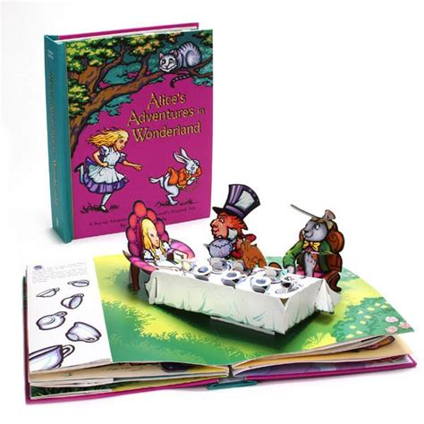 libro apop up book of nursery alice s adventures in wonderland a pop up adaptation the getty store