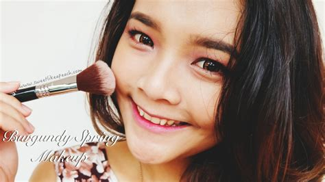 tutorial beauty blogger indonesia ririeprams beauty blogger indonesia burgundy spring