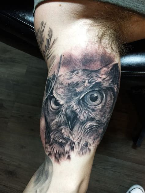 tattoo on inner shoulder chronic ink tattoo toronto tattoo owl tattoo on the