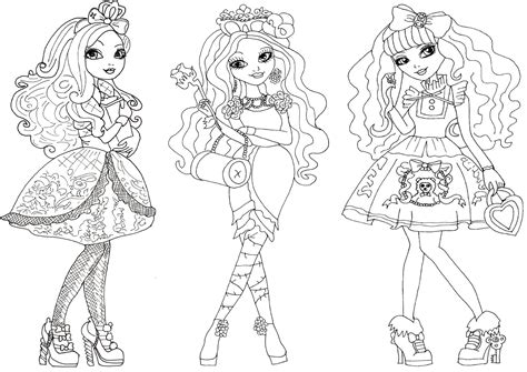 coloring page ever after high free printable ever after high coloring pages october 2015