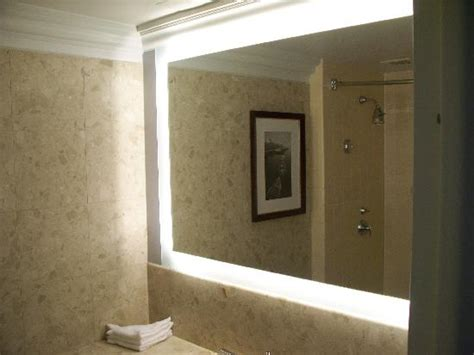 lighted mirrors for bathroom nice big lighted mirror in bathroom picture of the