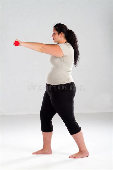 how to photograph heavy women overweight woman working out stock photography image