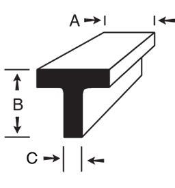 aluminium tee section sizes 6061 t6 aluminum t bar online metal store