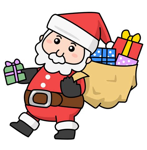 Awesome Christmas Presents Clipart #3: Santa-claus-free-to-use-clip-art.png