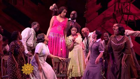 the color purple musical hudson on broadway cbs news