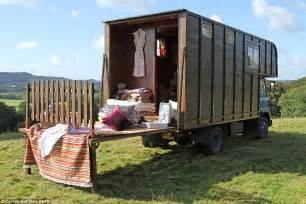 Kitchen Design Surrey gardeners convert old horse box into a hotel room on
